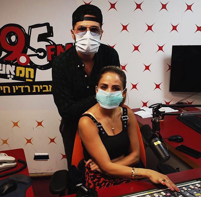 דניאל ציוני וקארין קבסה | צילום: רדיו 99.5 חם אש
